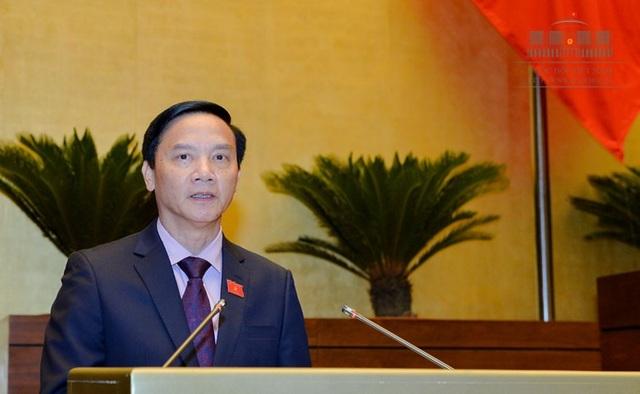 Chủ nhiệm UB Pháp luật Nguyễn Khắc Định chủ trì xây dựng báo cáo giám sát tối cao của Quốc hội về nội dung này.