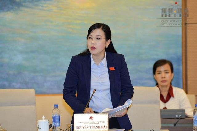 Trưởng Ban Dân nguyện Nguyễn Thanh Hải phát biểu trước UB Thường vụ Quốc hội.