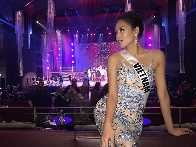 Hiện tại, Á hậu Nguyễn Thị Loan đang tích cực tham gia các hoạt động tranh tài và giao lưu trong cuộc thi Miss Universe đang diễn ra tại Mỹ.