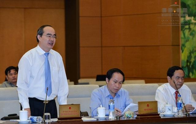Chủ tịch UB Trung ương MTTQ Việt Nam phát biểu trước UB Thường vụ Quốc hội