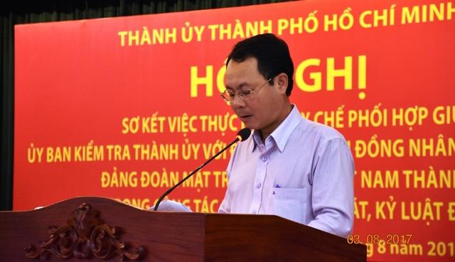 Chủ nhiệm Ủy ban Kiểm tra Thành ủy TPHCM Nguyễn Văn Hiếu