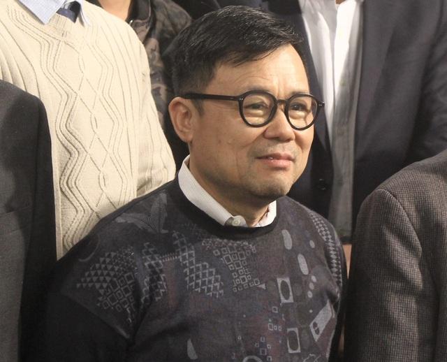 Ông Nguyễn Duy Hưng, Chủ tịch Hội đồng quản trị, Tổng giám đốc Công ty Chứng khoán Sài Gòn (SSI) tại Lễ công bố 10 sự kiện chứng khoán nổi bật năm 2017 được tổ chức sáng nay. (Ảnh: Hồng Vân)