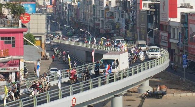 Cầu vượt góp phần giải quyết ùn tắc giao thông tại ngã 6 Gò Vấp
