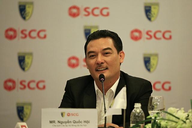 Chủ tịch CLB bóng đá Hà Nội - Ông Nguyễn Quốc Hội