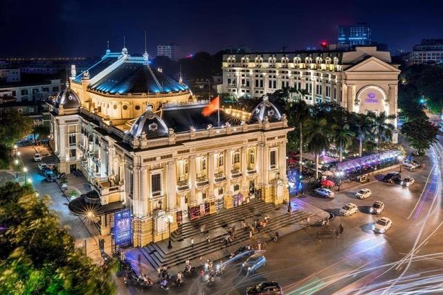 Nhà hát Lớn Hà Nội nhìn từ trên cao. Ảnh: Vũ Long.
