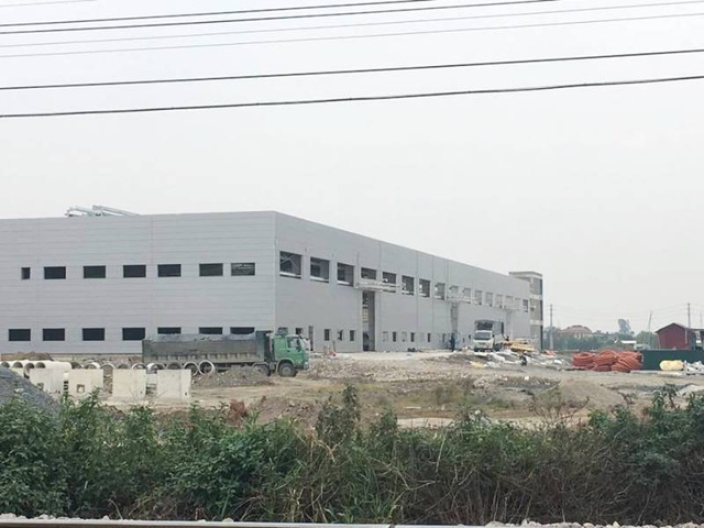 Nhà máy xây dựng trong Cụm công nghiệp Cầu Yên.