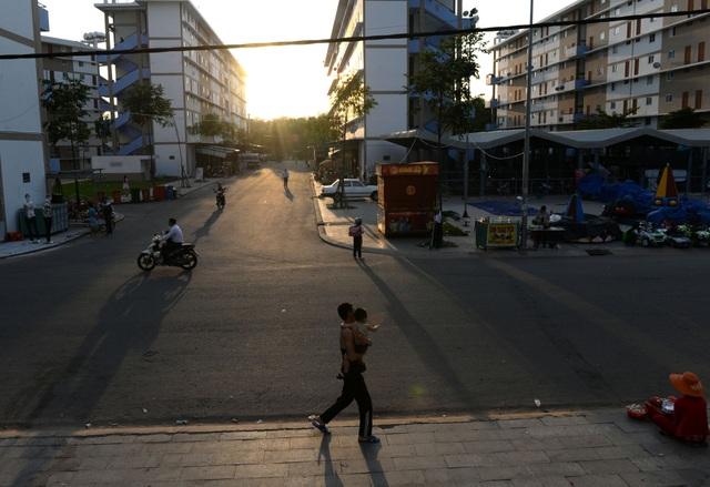 Các con đường trong khu dân cư sạch sẽ, thoáng mát.