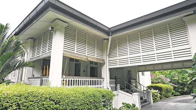 Căn nhà của cố Thủ tướng Lý Quang Diệu tại số 30 đường Oxley (Ảnh: Straitstimes)