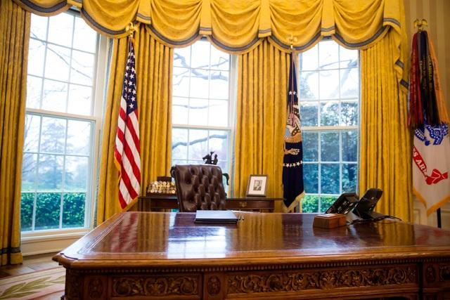 Ghế của Tổng thống Trump trong Phòng Bầu dục (Ảnh: New York Times)