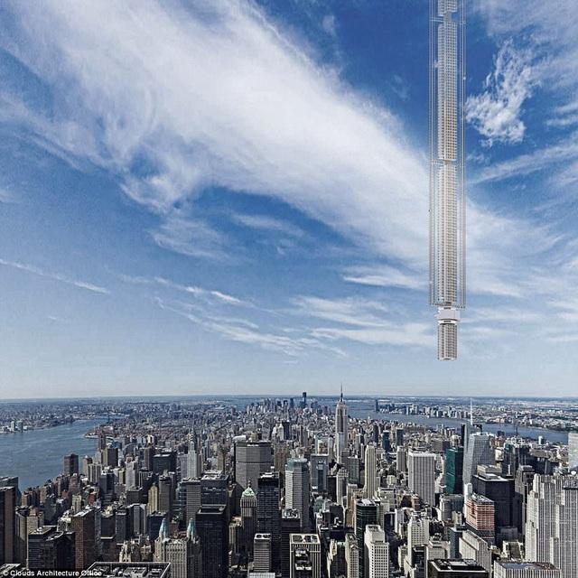 Thay vì xây nhà từ dưới mặt đất lên, thì tòa nhà trong thiết kế mới xây từ trên trời xuống.