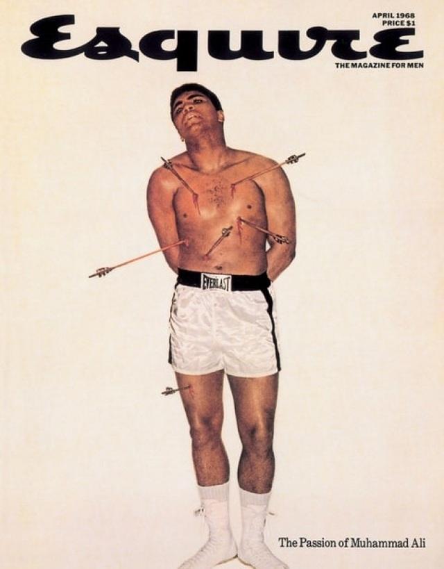 Huyền thoại boxing Muhammad Ali năm 26 tuổi trên trang bìa của tạp chí Esquire.