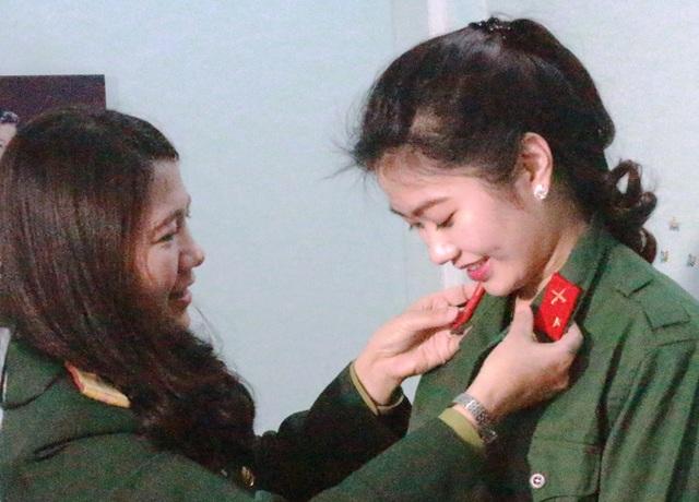 Trở thành chiến sĩ là niềm mơ ước của Linh từ ngày còn ngồi trên ghế nhà trường