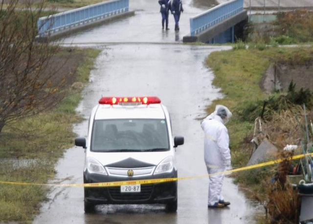 Hiện trường tìm thấy thi thể bé Nhật Linh. (Ảnh: Japan Times)