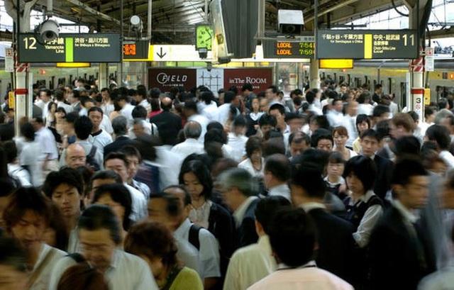 Giờ cao điểm ở Nhật Bản. (Ảnh: Reuters)