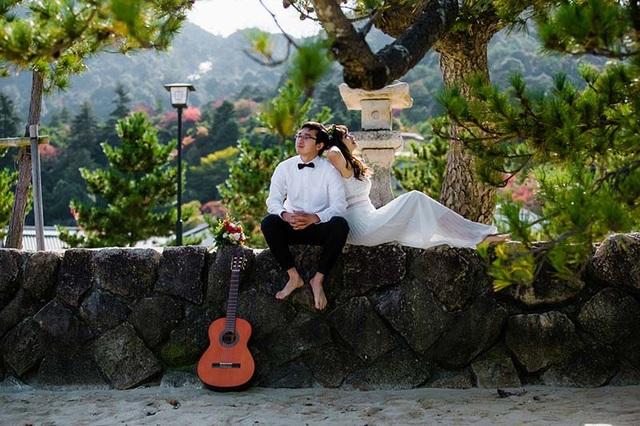 Cặp đôi chụp ảnh cưới ở Nhật Bản sau 9 năm bên nhau - 13