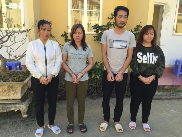 Bốn đối tượng Diễm, Thủy, Tân, Ngân bị khởi tố về hành vi mua bán trẻ em