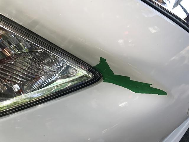 Theo các thợ sơn lành nghề, việc chỉ sau một tháng mà các mảng sơn đã bong tróc thì nhiều khả năng chiếc xe màu xanh đã bị sơn phủ luôn màu trắng mà không được xử lí bề mặt, loại bỏ sơn bóng, đặc biệt ở các góc mà sơn phải chịu co giãn nhiều. Trong trường hợp này, nguy cơ bong tróc là rất dễ xảy ra, thậm chí khi rửa xe với vòi phun áp lực cao cũng có thể thổi sơn đi từng mảng.