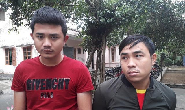 2 đối tượng Đinh Văn Hiếu và Nguyễn Đình Giáp bị bắt giữ trong chuyên án.