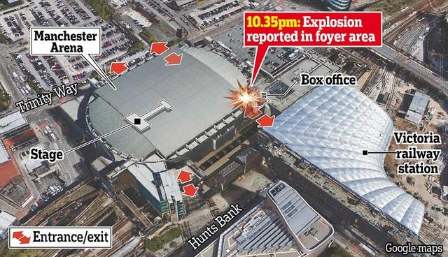 Vị trí xảy ra vụ nổ. (Google Maps)