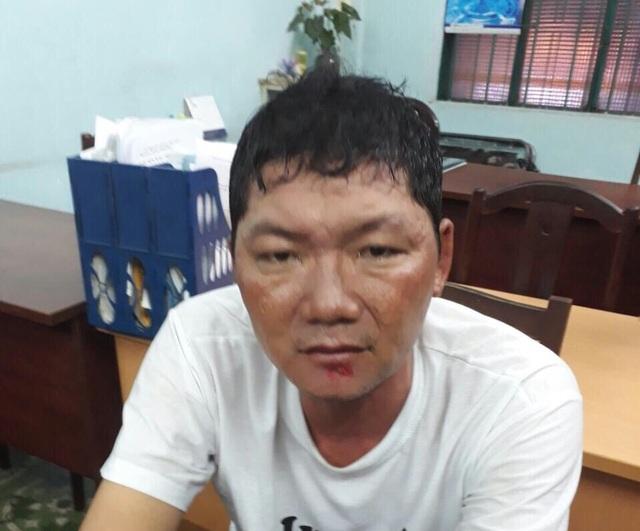 Lê Thanh Phú tại cơ quan công an