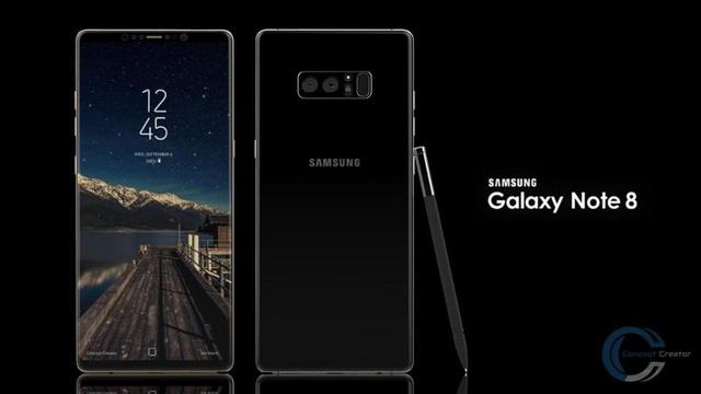 Một bản concept về Galaxy Note 8 dựa theo các tin đồn.
