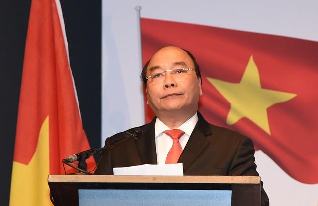 Thủ tướng phát biểu tại Diễn đàn doanh nghiệp Việt Nam - Hà Lan (ảnh: VGP)