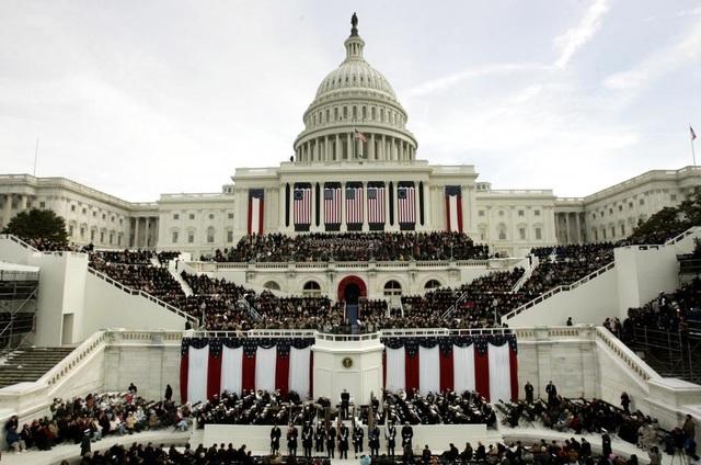 Toàn cảnh lễ tuyên thệ nhậm chức ngày 20/1/2005 của Tổng thống George W. Bush.