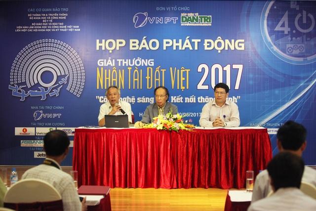 Quang cảnh buổi lễ họp báo Phát động Giải thưởng Nhân tài Đất Việt 2017.