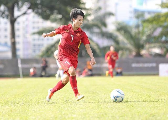 Cầu thủ Nguyễn Thị Tuyết Dung của tuyển nữ Việt Nam, ảnh: Q.H