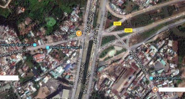 TPHCM muốn xây nút giao An Phú 3 để giảm ùn tắc giao thông cửa ngõ phía Đông (ảnh: Google Maps)