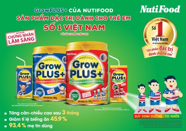 GrowPLUS+ của NutiFood là sản phẩm đặc trị đứng số 1 Việt Nam - 2