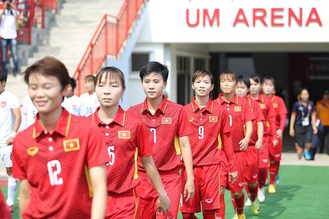 Đội tuyển nữ Việt Nam quyết đánh bại Thái Lan để giành HCV (ảnh: Q.H)
