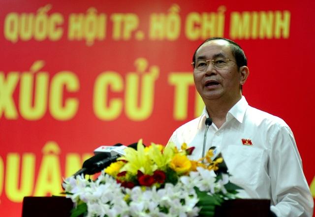Chủ tịch nước Trần Đại Quang trả lời về các vấn đề của cử tri.