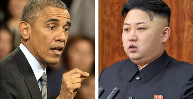 Cựu Tổng thống Barack Obama (trái) và nhà lãnh đạo Kim Jong-un (Ảnh: Newscom)