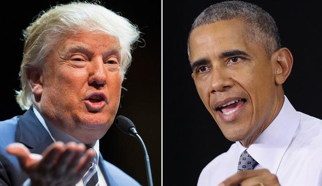 Tổng thống Mỹ Donald Trump (trái) và người tiền nhiệm. (Ảnh: Getty)