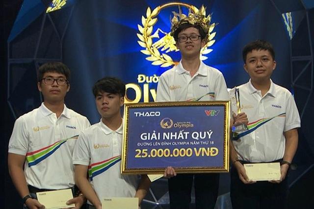 Nguyễn Hữu Quang Nhật giành chiến thắng trong cuộc thi Quý đầu tiên của Olympia năm thứ 18, giành 1 vé vào Chung kết Đường lên đỉnh Olympia lần thứ 18.