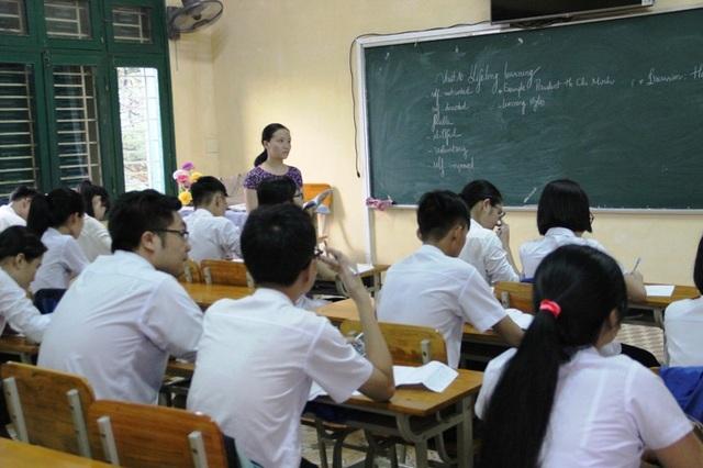 Học sinh các trường cũng được tiếp cận về hình thức thi trắc nghiệm để thích ứng với sự thay đổi trong Kỳ thi