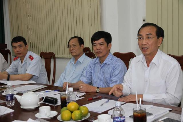 Ông Đặng Công Huẩn - Phó Tổng Thanh tra Chính phủ (ngoài cùng bên phải) tại buổi làm việc với UBND tỉnh Bình Dương (Ảnh: TTCP).