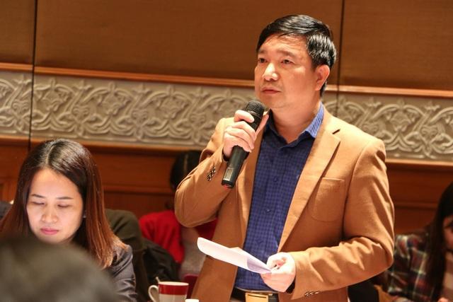 Ông Nguyễn Tiến Dũng – Phó giám đốc, Sở GD&ĐT Nam Định góp ý cho Dự thảo