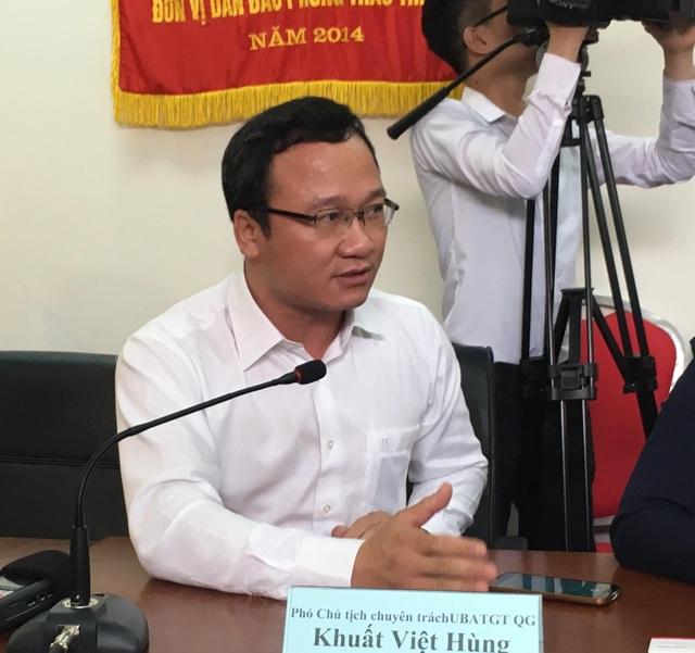 Phó Chủ tịch Chuyên trách Ủy ban An toàn giao thông Quốc gia Khuất Việt Hùng