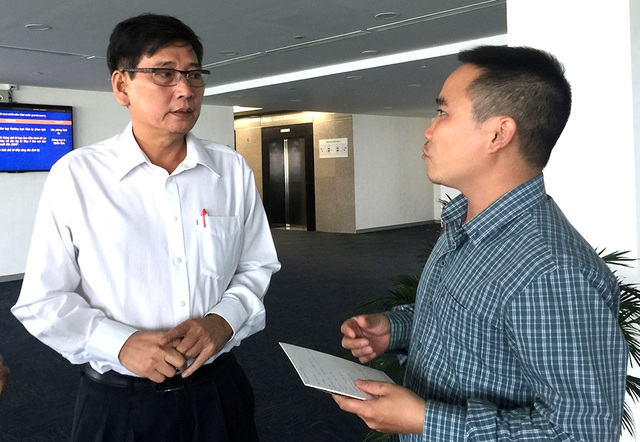 Ông Mai Hùng Dũng - Phó Chủ tịch UBND tỉnh Bình Dương trao đổi thông tin với PV Dân trí về các vấn đề liên quan đến cụm mỏ đá Tân Đông Hiệp.
