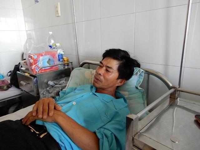 Ông Mới đang điều trị tại Bệnh viện Đà Nẵng