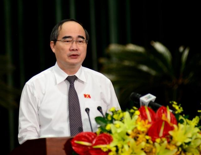 Bí thư Thành ủy TPHCM Nguyễn Thiện Nhân (ảnh Nguyễn Quang)