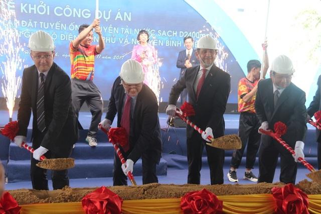 Khởi công dự án xây dựng tuyến ống cấp nước vượt sông Sài Gòn trị giá 3.400 tỷ đồng
