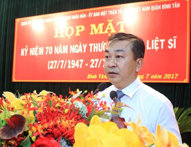 Ông Võ Ngọc Quốc Thuận - Bí thư quận ủy quận Bình Tân bị kỷ luật khiển trách (ảnh: Website TPHCM)