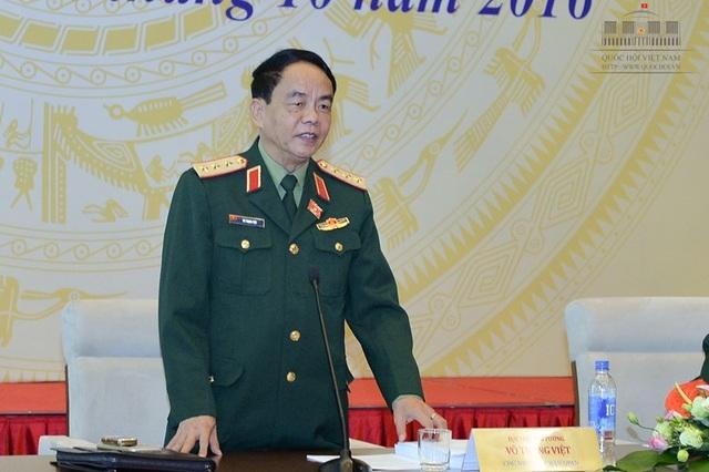 Thượng tướng Võ Trọng Việt, Chủ nhiệm Uỷ ban Quốc phòng-An ninh của Quốc hội (Ảnh: Quochoi.vn)