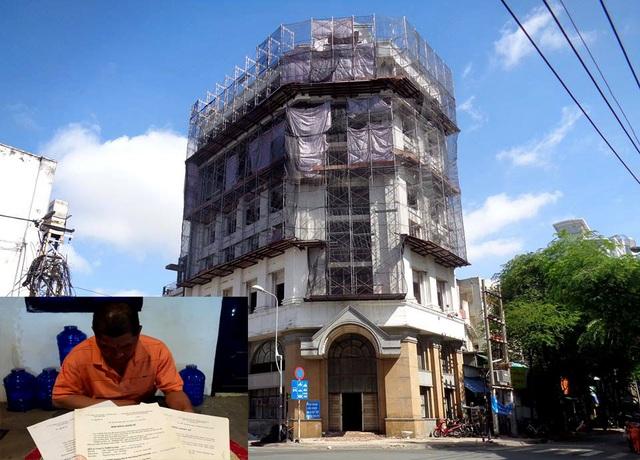 Công trình khách sạn Tân Đào Viên mà ông Kiên nhận làm trang trí nội thất vào năm 1999 sau đó không được đối tác thanh toán khiến gia đình ông lâm vào cảnh khốn cùng.