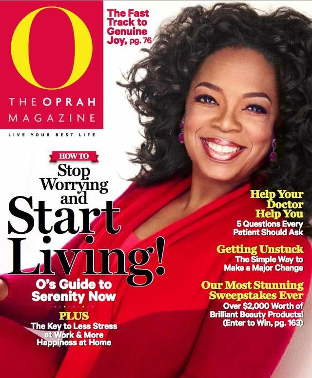 """""""Nữ hoàng truyền hình"""" người Mỹ Oprah Winfrey."""