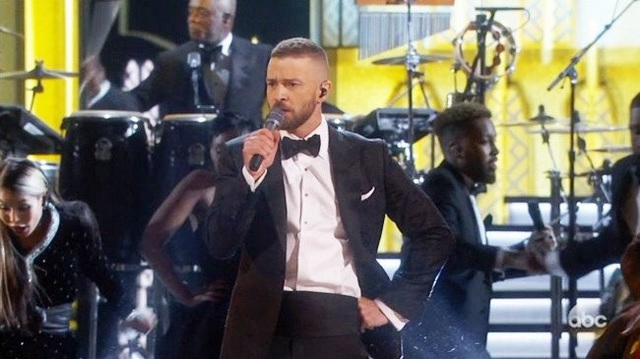 Justin Timberlake trình diễn mở màn lễ trao giải Oscar năm 2017.