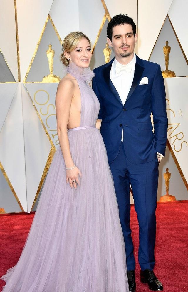 Đạo diễn Damien Chazelle dẫn bạn gái tới dự lễ trao giải Oscar 2017.